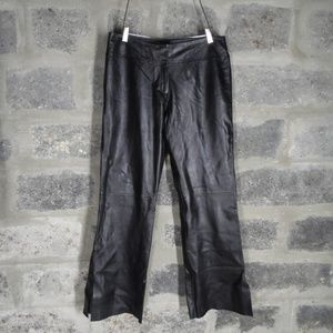 CACHE black butter soft leather pants boot cut